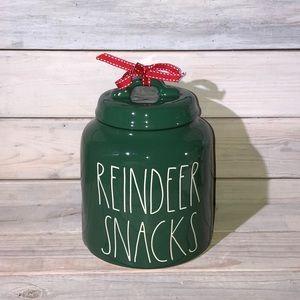 Rae Dunn REINDEER SNACKS Christmas Canister 🦌